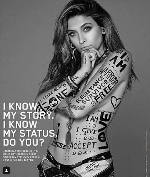 Paris Jackson goes topless to raise awareness for HIV testing (Photos)