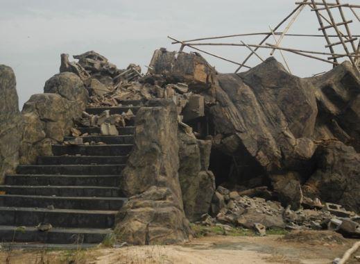 Photo: Bridge built by Governor Rochas Okorocha collapses in Owerri