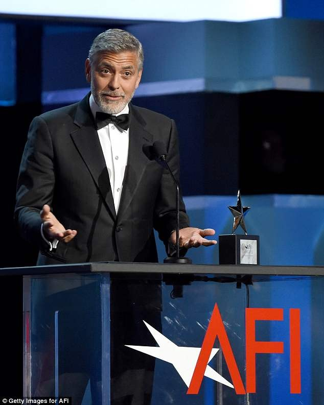 Amal Clooney locks lips with husband George Clooney as he bags Lifetime Achievement Award from American Film Institute (Photos)