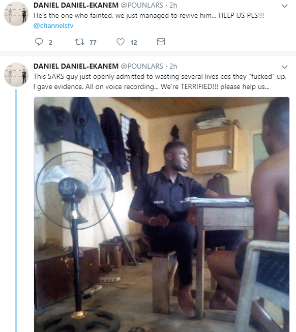 """This may possibly be my last broadcast. We need help please"" Man cries out as he and 11 others are arrested by SARS and treated ""like animals"""