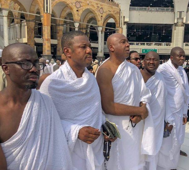 Photo: Senate President, Bukola Saraki completes the 2018 Umurah rites at the