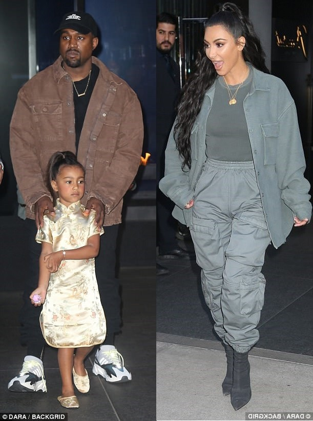 photos: Kanye West and Kim Kardashian stepped out in style as they accompanied their first child North to her 5th birthday party