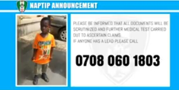 Enugu Police saves 2-year-old boy from his buyer as NAPTIP seeks help locating his family