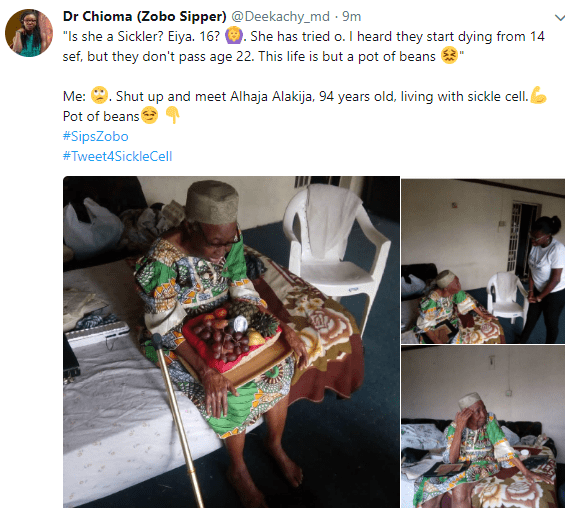 Meet 94 year old Nigerian woman who has lived all her life a sickle cell patient (photos)