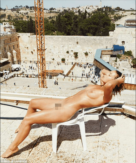 Model receives death threat after posing completely naked in front of Jerusalem