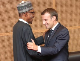 Image result for Buhari to meet French President Emmanuel Macron