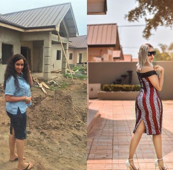 Juliet Ibrahim completes her hew house in Ghana, shares touching story of how she rose from being a refugee to celebrity