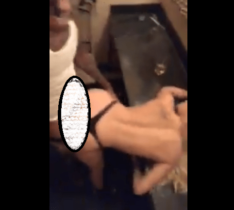 Rapper Boonk Gang shares another video of himself smashing a white chick on Twitter, just a day after his IG account was deleted for live streaming x-rated video..18+