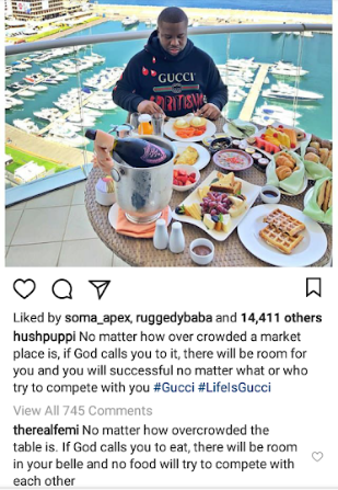 Hushpuppi drops words of wisdom as he enjoys breakfast in a picturesque location