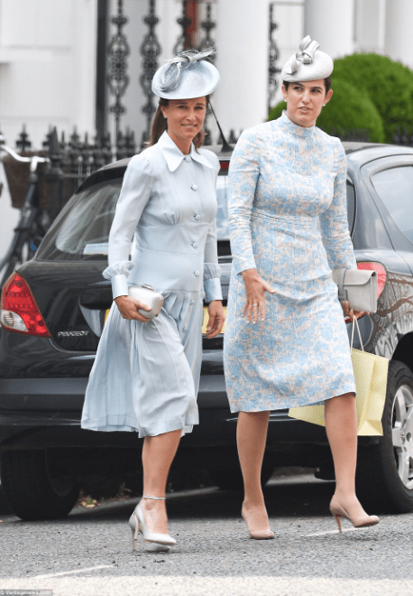 Photos/video of members of the Royal family at Prince Louis  Photos of members of the Royal family at Prince Louis' christening today 5b438b2747ea3