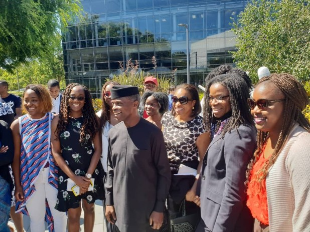 VP Yemi Osinbajo visits Google headquarters in the US, received by Google CEO, Sundar Pichai (photos)