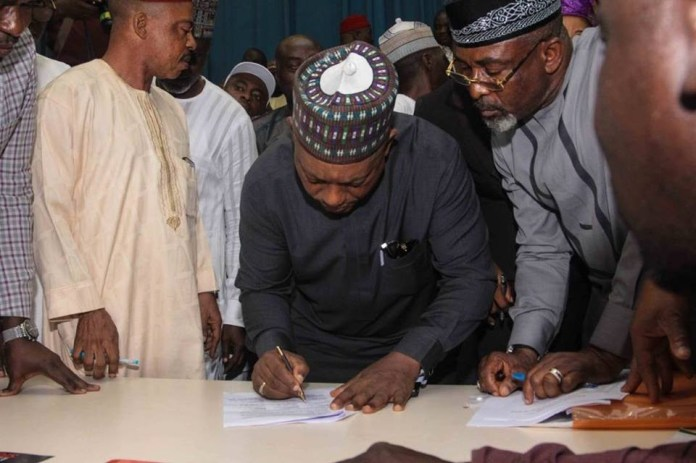 Atiku Abubakar, Olu Falae, Ekweremadu, FFK, others attend signing of memorandum of understanding between PDP and 38 other parties