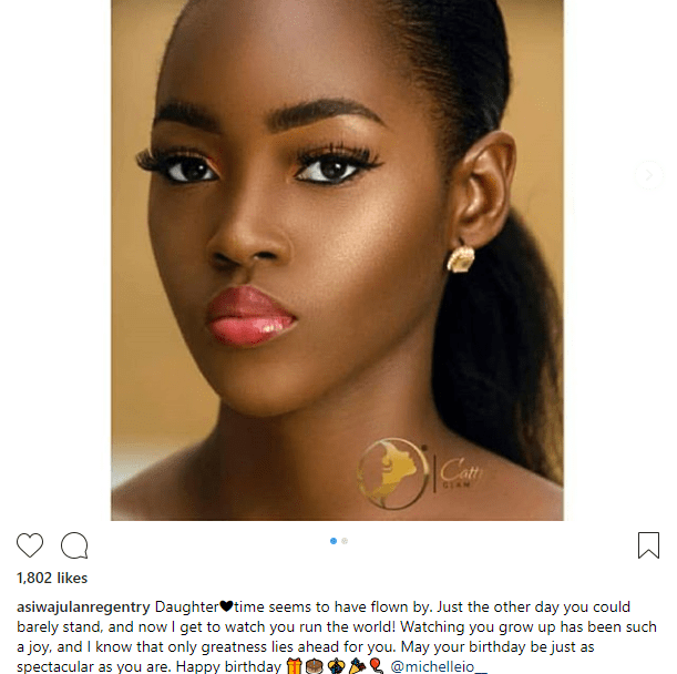 "Lanre Gentry wishes the daughter of his estranged wife Mercy Aigbe a happy birthday, calls her ""Daughter"""
