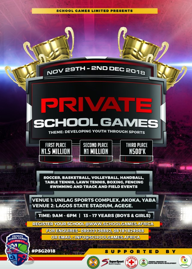 Has your school registered for the Private School Games? : The biggest Private Secondary School Sports Competition in Nigeria