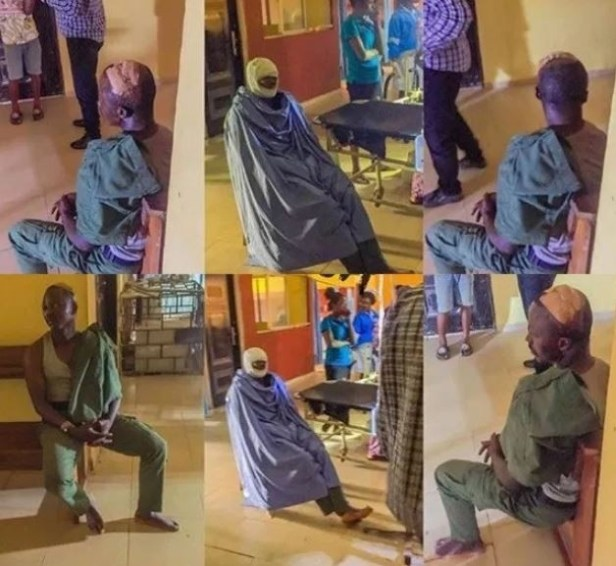 Photo: Nigerian policeman gets the beating of his life after shooting someone in Delta State