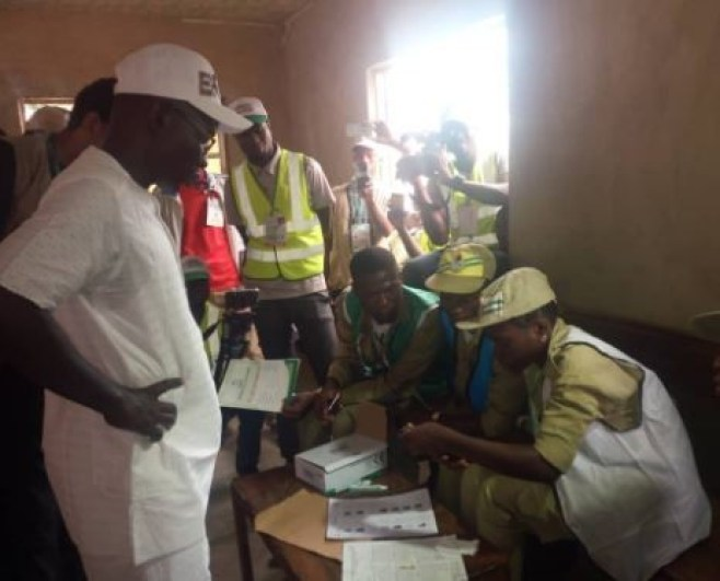 #EkitiDecides2018:?INEC Card reader rejects PDP candidate Olusola Eleka?s PVC