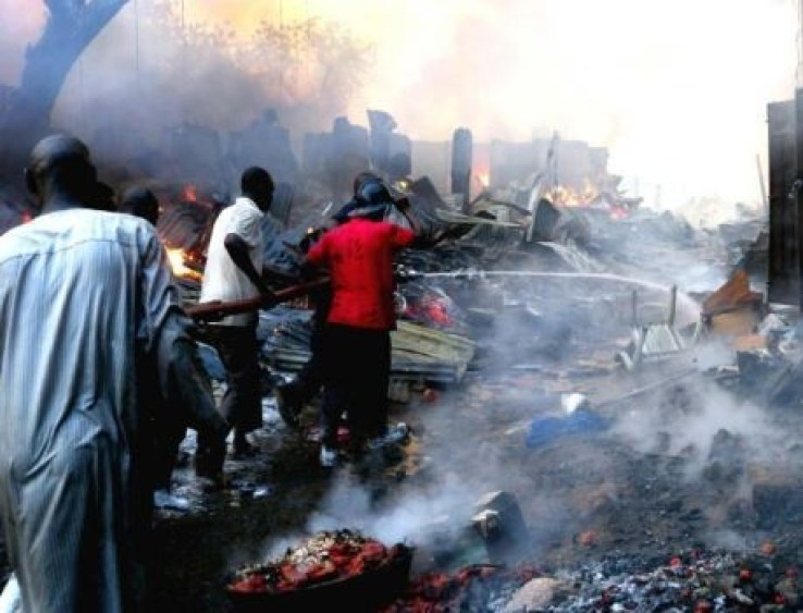 Friday night fire razes six shops in Kano market