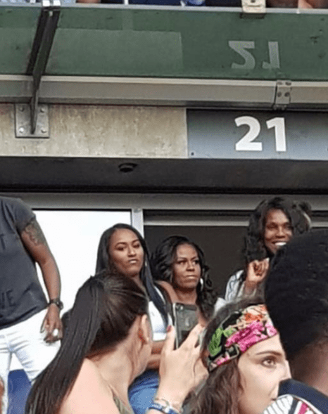 Michelle Obama spotted with Tina Lawson at Beyonce and Jay-Z