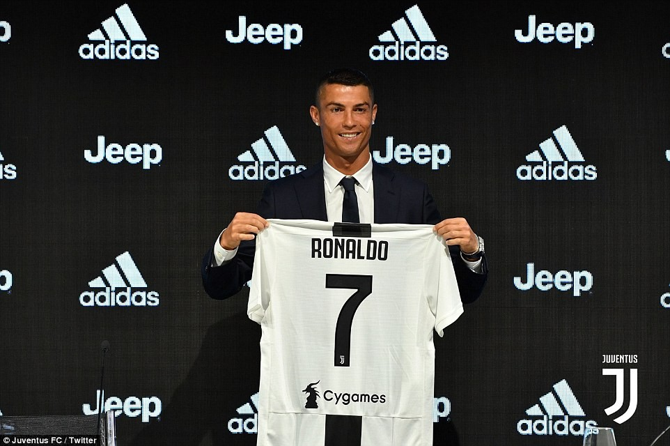 Cristiano Ronaldo officially unveiled as a Juventus player after sealing £100m move from Real Madrid