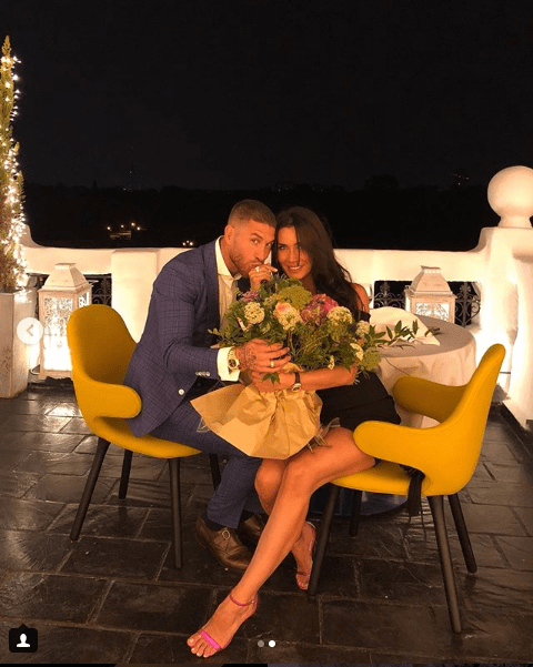Spain and Real Madrid captain Sergio Ramos gets engaged to Spanish TV presenter Pilar Rubio (Photos)