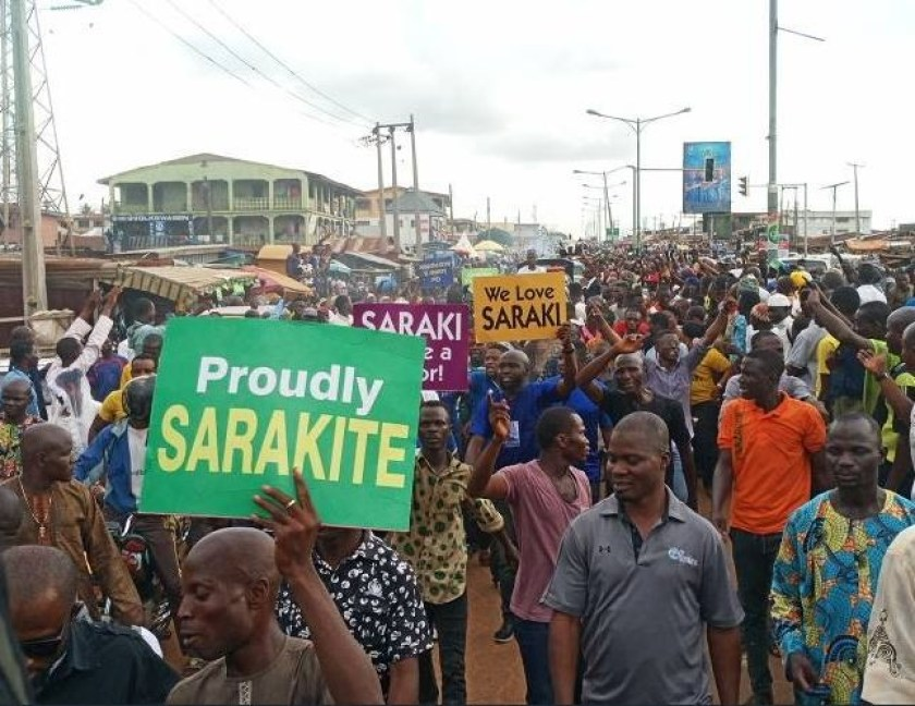 Photos: Senate President Bukola Saraki receives hero