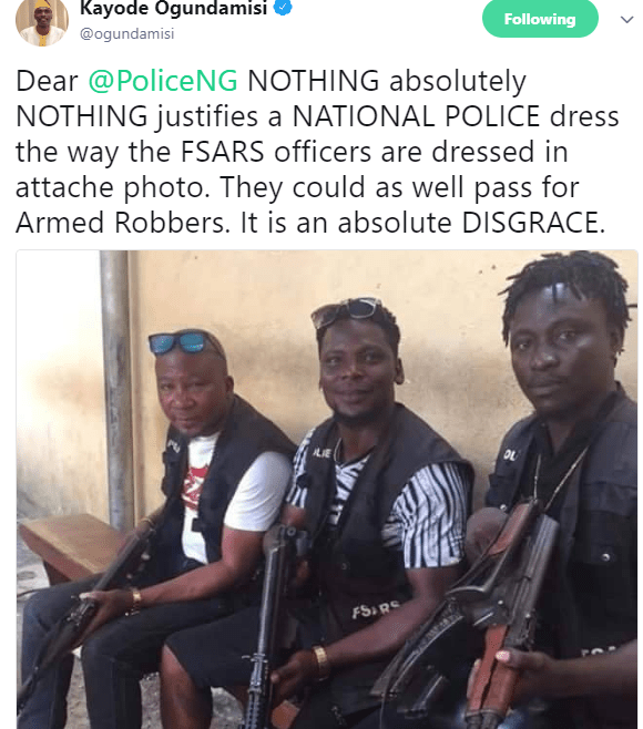 """""""Should a law enforcement officer look like this?"""" Nigerians ask in shock after seeing photos of SARS officers"""