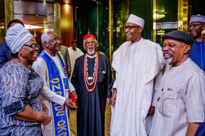 President Buhari receives courtesy visit from representatives of the Family of late Alex Ekwueme