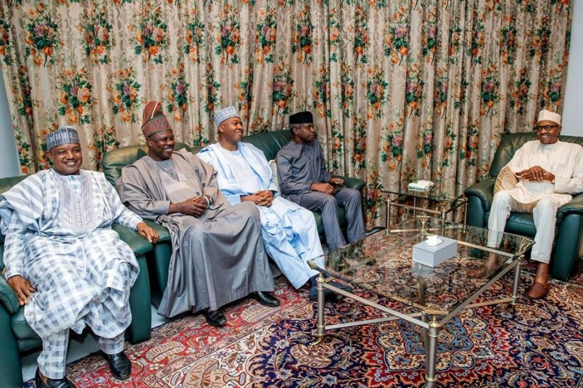 2019: Buhari, Osinbajo, governors meets with Saraki, others