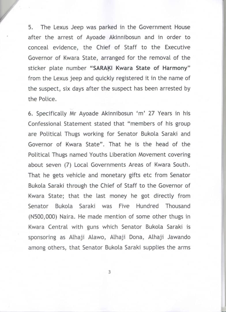 IGP summons Senate President, Bukola Saraki, over Offa bank robbery