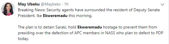 DSS, EFCC storm Ekweremadu?s residence in Abuja