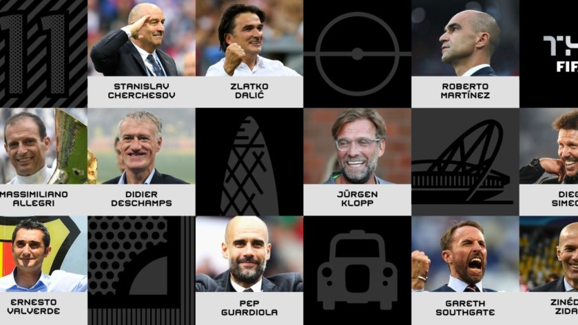 Zidane, Deschamps, Guardiola, Klopp and 7 others shortlisted for FIFA