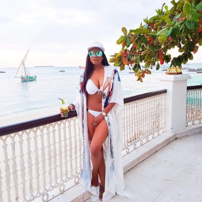 Chika Ike shows off her sexy bikini body