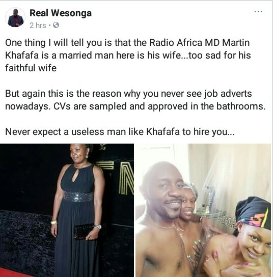 Photo of a married Kenyan man with two naked young ladies in the shower, goes viral
