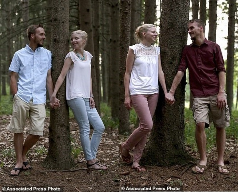 Meet the Identical twin brothers who are set to marry identical twin sisters and they are also planning ?to live in the same two-bedroom apartment after the wedding (Photos)