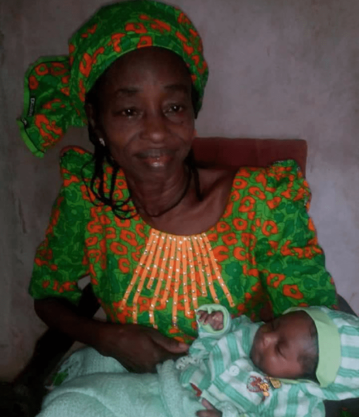 """God of David Oyedepo, thank you"" Wellwisher says as 60-year-old woman gives birth after 30 years of marriage"