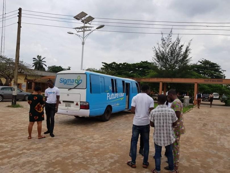 Sigma Pensions Limited take their Future Tour to Nnamdi Azikwe University, Awka Anambra