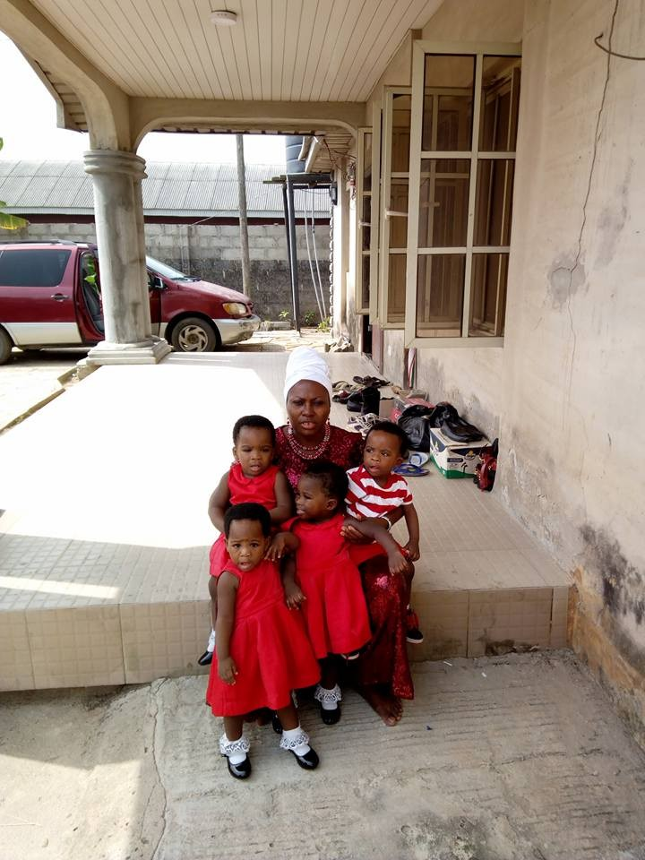Photos: Woman who gave birth to quadruplets after 15 years of waiting, celebrates their second birthday
