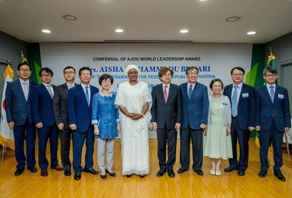 ?Ajou University in South Korea renames its?IT center after Aisha Buhari (Photos)