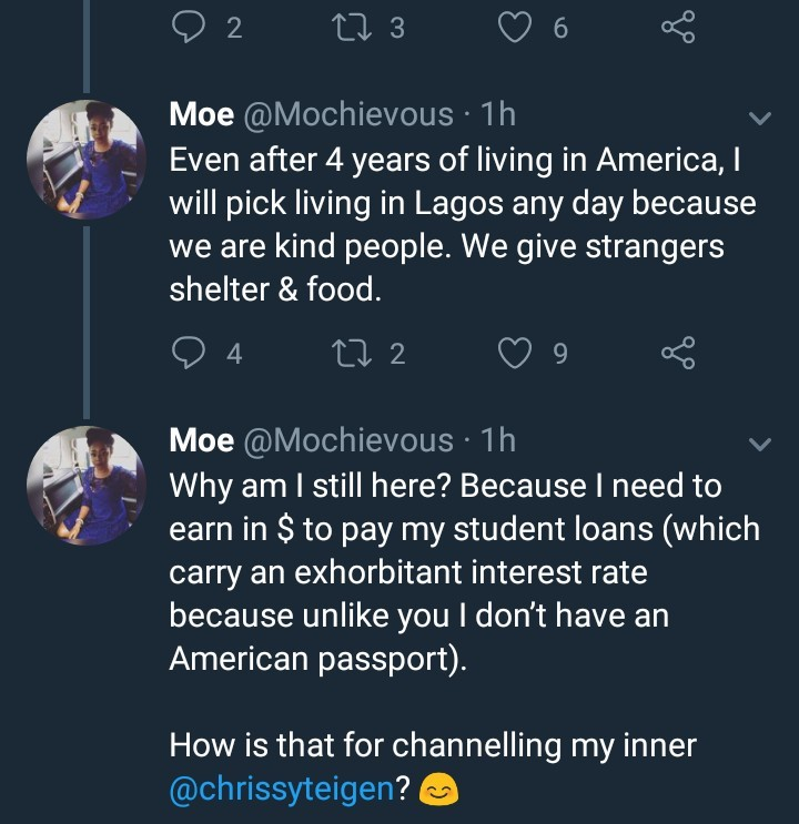 Nigerian lady says living abroad is more difficult than living in Nigeria, narrates her ordeal in the US