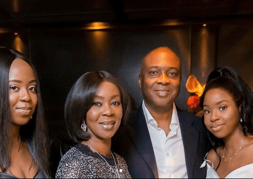 Beautiful family photos of Senate President Bukola Saraki, his wife, and their beautiful daughters