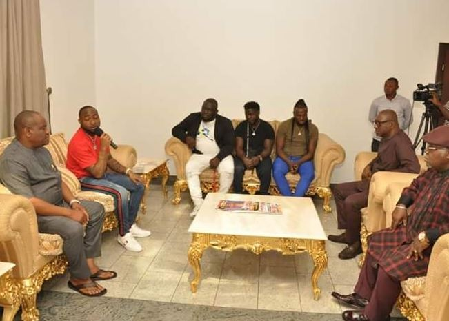 Photos: Davido meets Rivers State Governor, Nyesom Wike