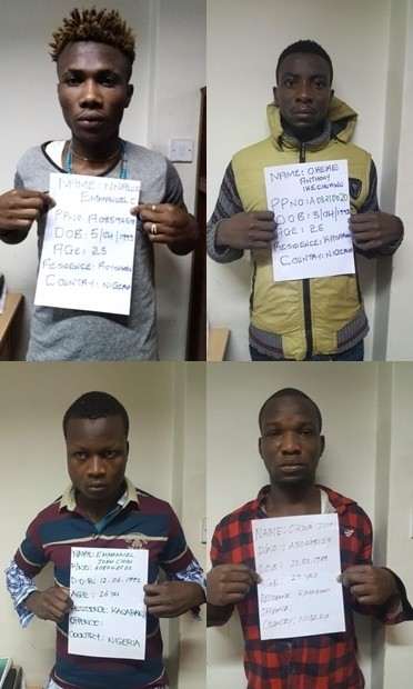 19 Nigerian men arrested  in Nairobi for allegedly engaging in electronic fraud targeting Kenyans (photos)
