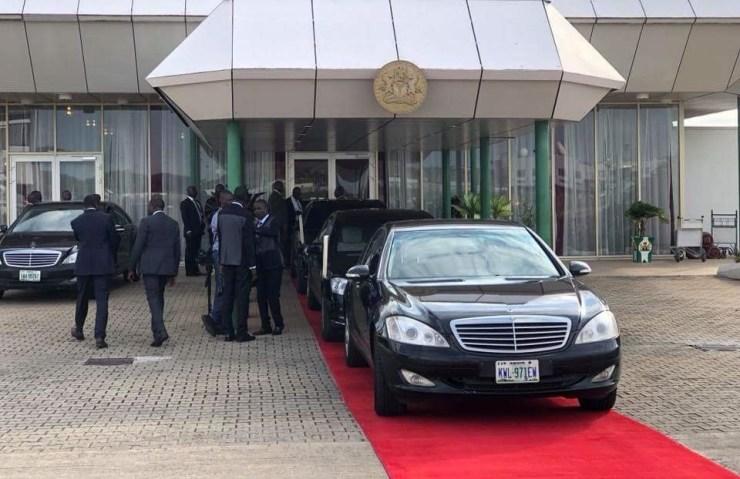 Photos: President Buhari returns from London vacation