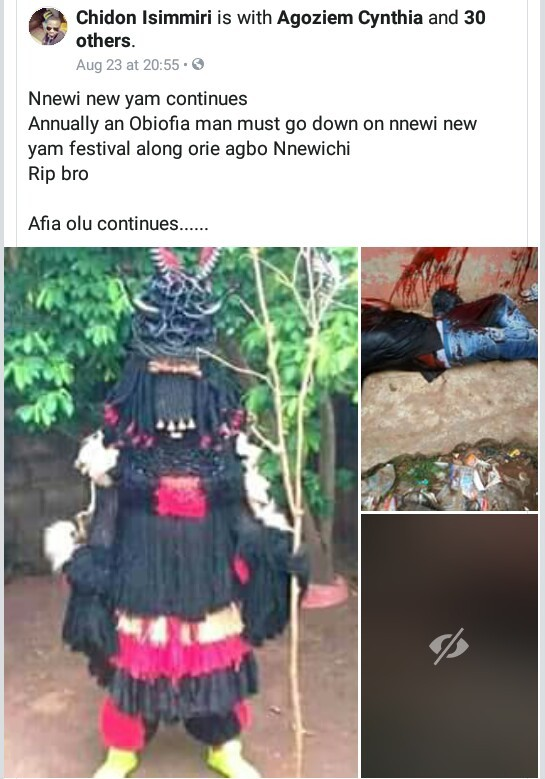 Nnewi New Yam festival ends in tragedy as man is brutally stabbed to death