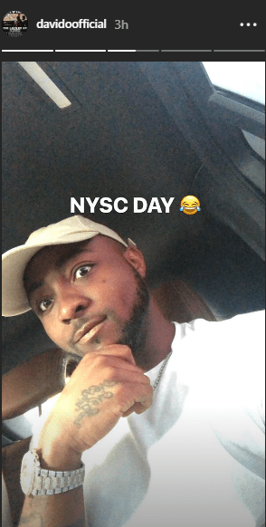 Photos: Davido begins his National Youth Service Corps (NYSC)