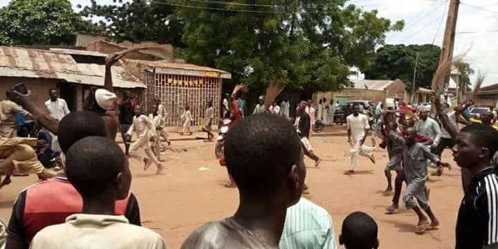 Photos: Following his defection from APC to PDP, Sokoto state residents sweep Governor Tambuwal out of their community