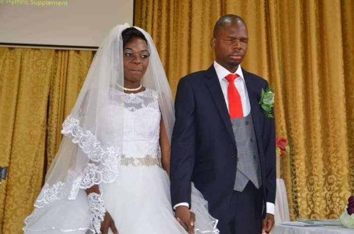 Lovely photos from the wedding of a visually impaired man and his beautiful bride