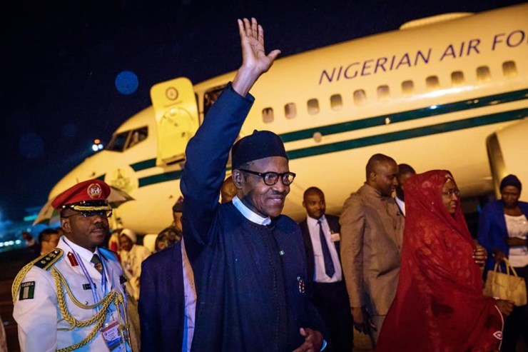 President Buhari returns to Nigeria after his 6-day visit to Beijing, China (Photos)