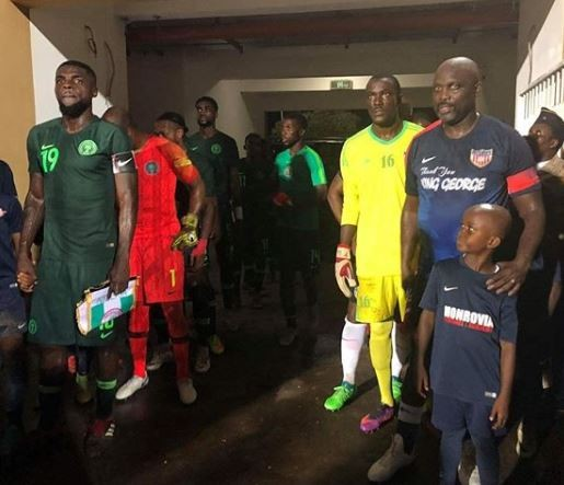 51-year old Liberian President,?George Weah?makes surprise return to football?as he played for his country in a match against?Nigeria (Photos)