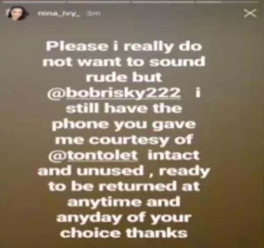Bobrisky slams Nina again, calls her an ungrateful bast**d